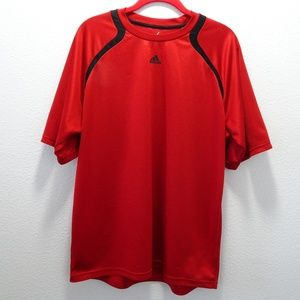 Men's Adidas Athletic Shirt Large Red